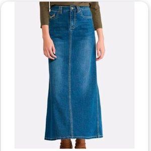 Gap vintage long denim skirt